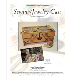 Sewing-jewelry case pattern cover