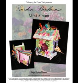 garden birdhouse mini album  cover