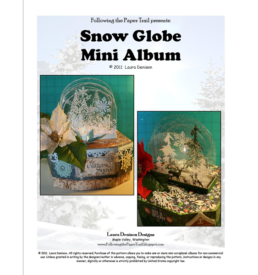 snow globe mini album pattern cover