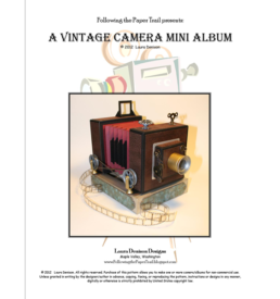vintage camera pattern cover