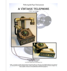 vintage telephone pattern cover